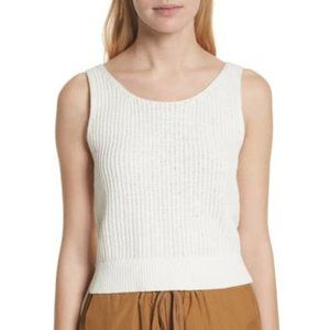 Vince Ivory Crossover Back Sweater Tank